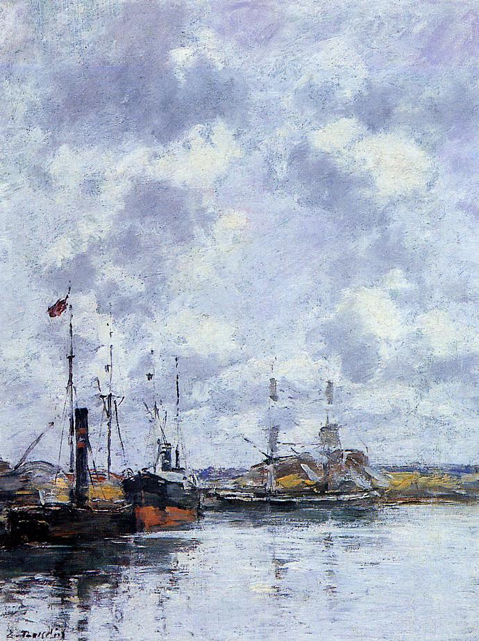 The Trouville Basin 1883-1887 | Eugene Louis Boudin | Oil Painting