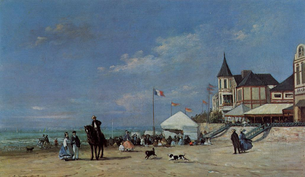 The Trouville Beach 1863 | Eugene Louis Boudin | Oil Painting