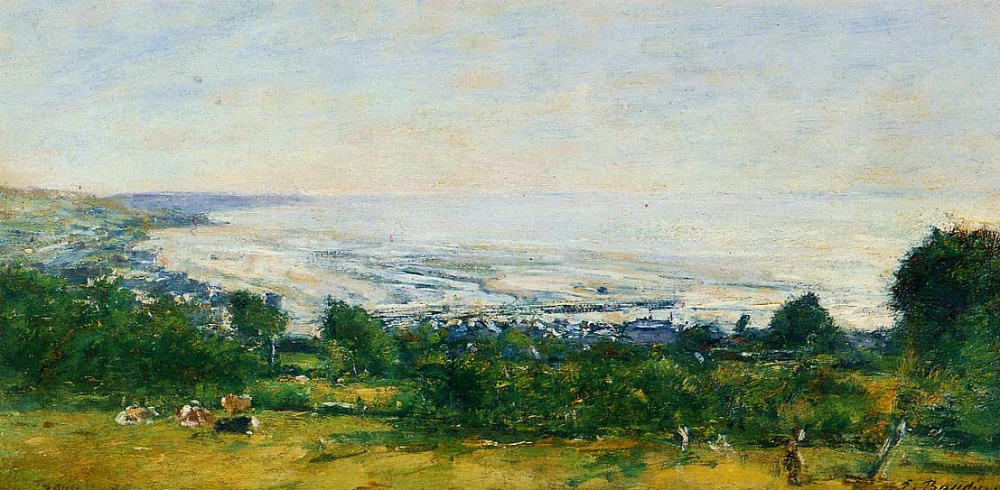 The Trouville Heights 1875 | Eugene Louis Boudin | Oil Painting