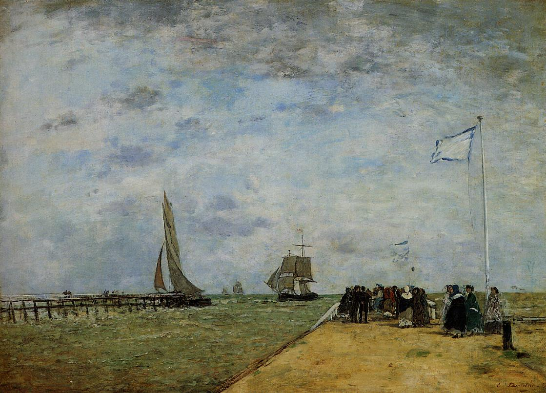 The Trouville Jetty 1867 | Eugene Louis Boudin | Oil Painting