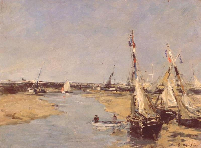 Trouville at Low Tide 1890 | Eugene Louis Boudin | Oil Painting