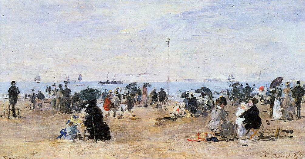 Trouville Beach Scene1 1881 | Eugene Louis Boudin | Oil Painting