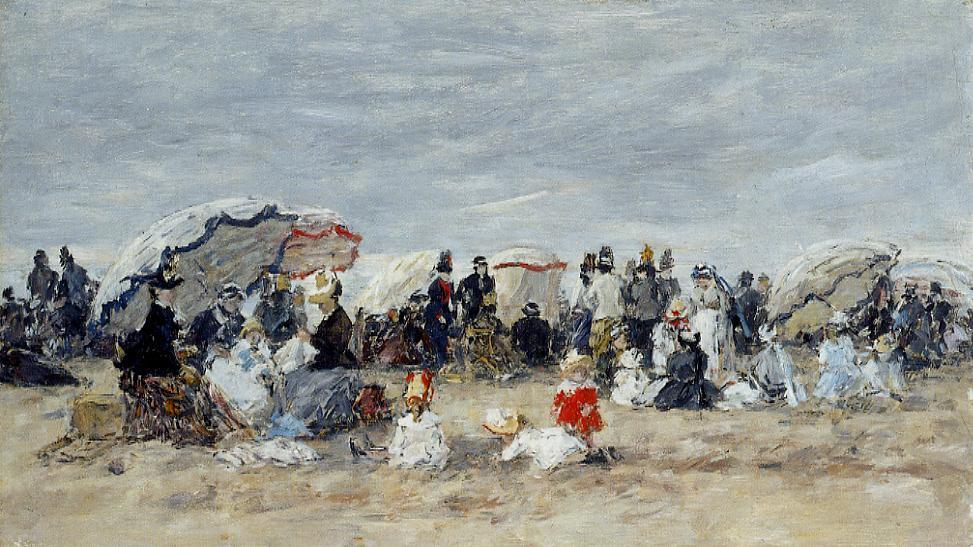 Trouville Beach Scene1 1888-1895 | Eugene Louis Boudin | Oil Painting