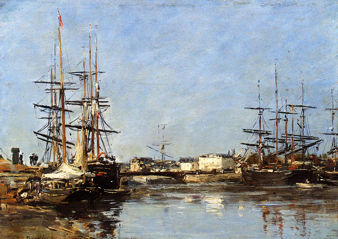 Trouville Beach Scene2 1888-1895 | Eugene Louis Boudin | Oil Painting