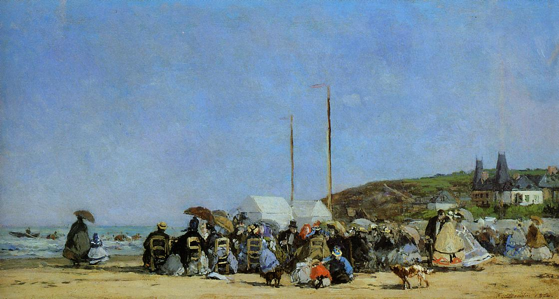 Trouville Beach Scene 1864 | Eugene Louis Boudin | Oil Painting