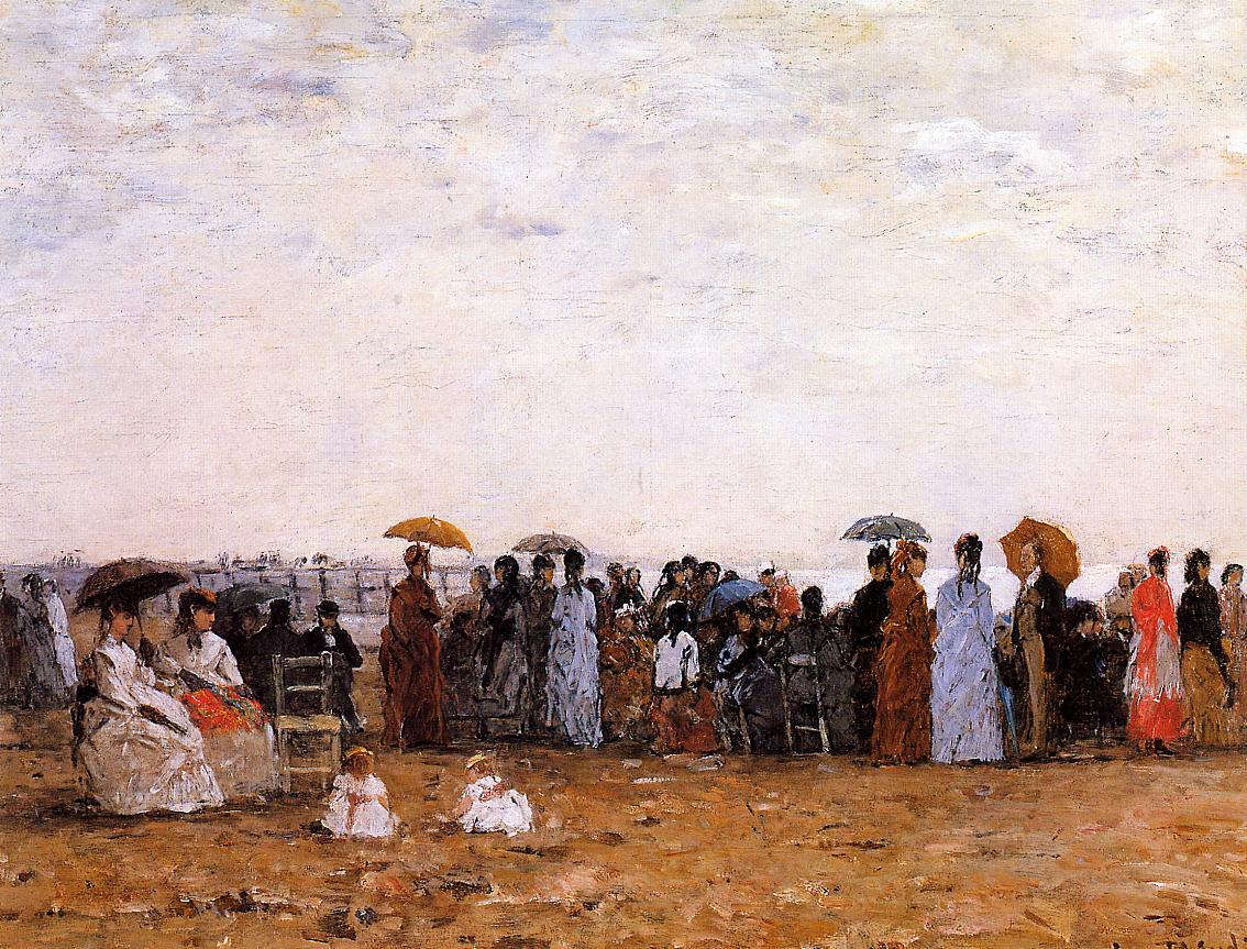 Trouville Beach Scene 1869 | Eugene Louis Boudin | Oil Painting