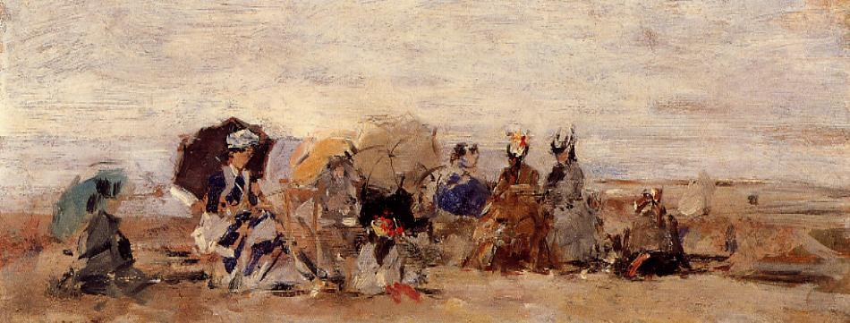 Trouville Beach Scene 1874 | Eugene Louis Boudin | Oil Painting