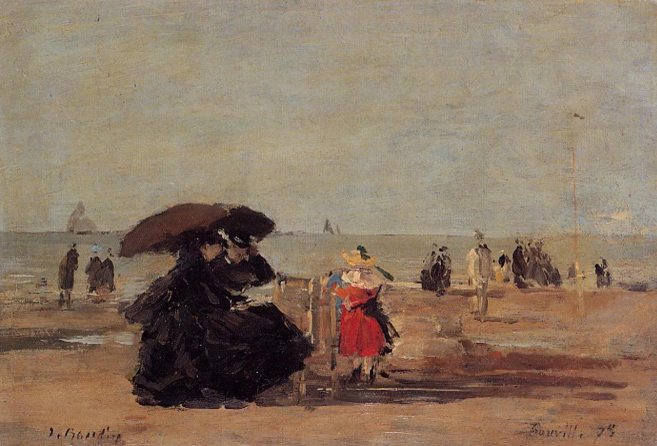 Trouville Beach Scene 1875 | Eugene Louis Boudin | Oil Painting
