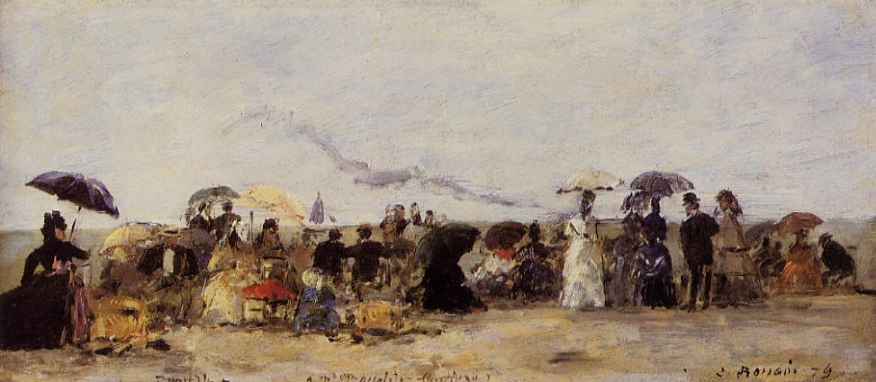 Trouville Beach Scene 1879 | Eugene Louis Boudin | Oil Painting