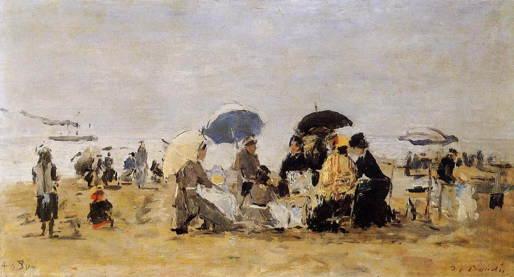 Trouville Beach Scene 1880 | Eugene Louis Boudin | Oil Painting