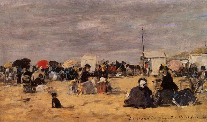 Trouville Beach Scene 1884 | Eugene Louis Boudin | Oil Painting