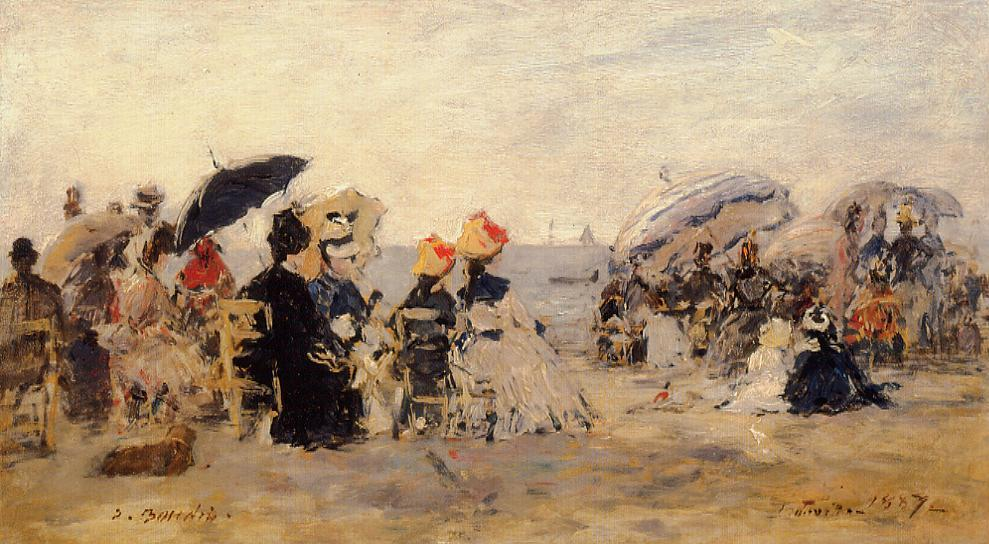 Trouville Beach Scene 1887 | Eugene Louis Boudin | Oil Painting