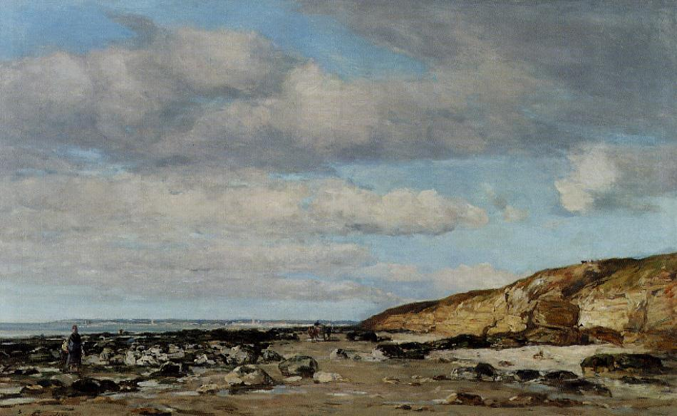 Trouville greve at rochers 1860-1865 | Eugene Louis Boudin | Oil Painting