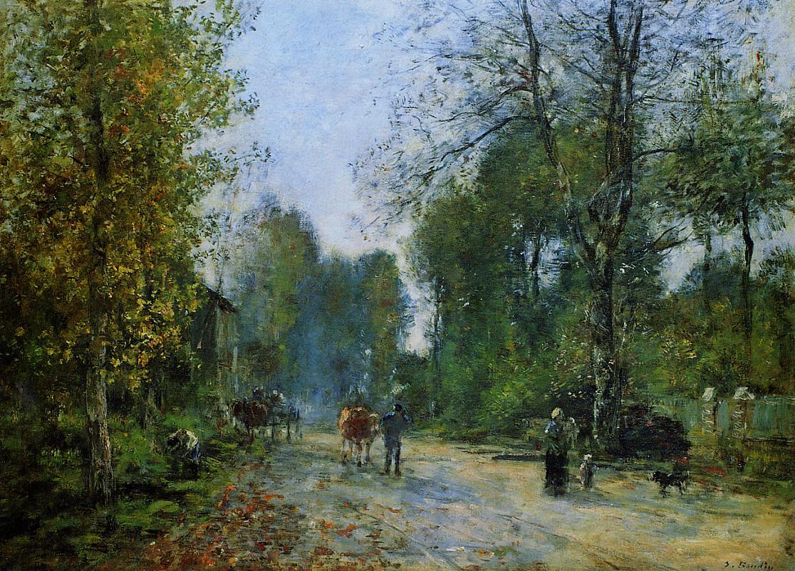 Trouville Le Chemin de la Corderie 1878 | Eugene Louis Boudin | Oil Painting
