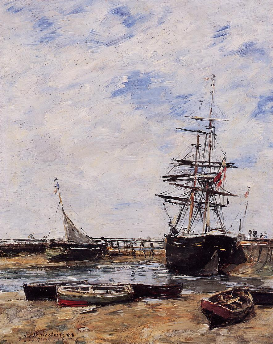 Trouville Low Tide 1883 | Eugene Louis Boudin | Oil Painting