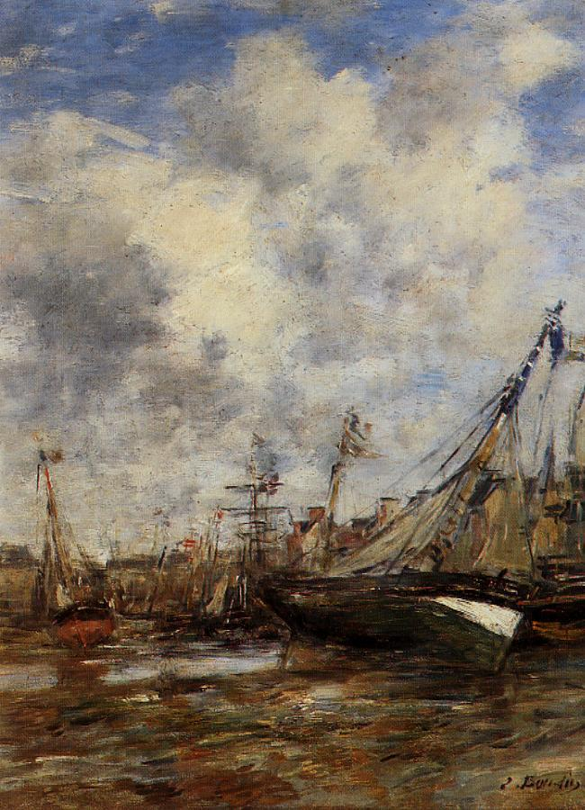 Trouville Low Tide | Eugene Louis Boudin | Oil Painting