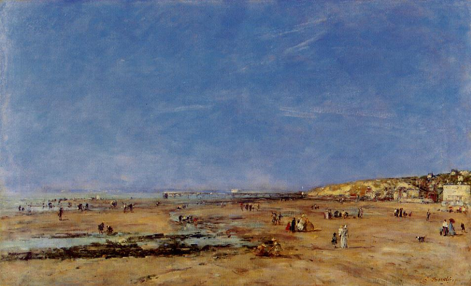 Trouville Panorama of the Beach 1890 | Eugene Louis Boudin | Oil Painting
