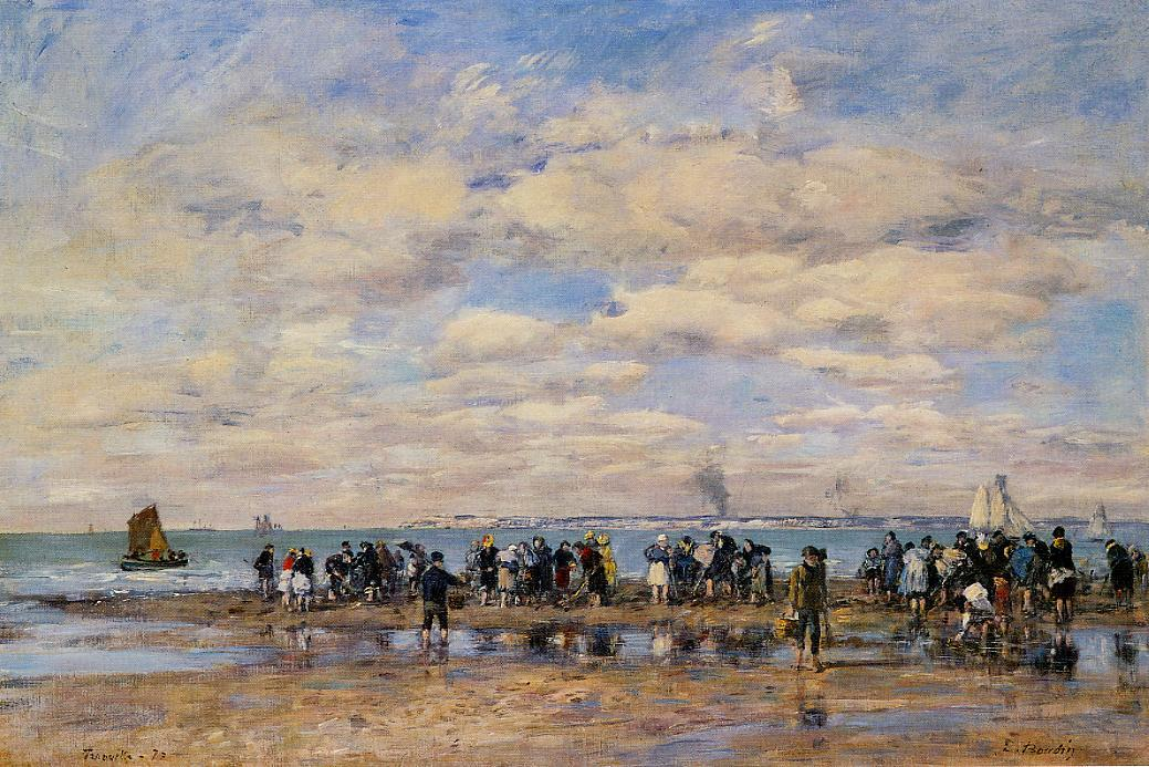 Trouville the Beach at Low Tide 1878 | Eugene Louis Boudin | Oil Painting