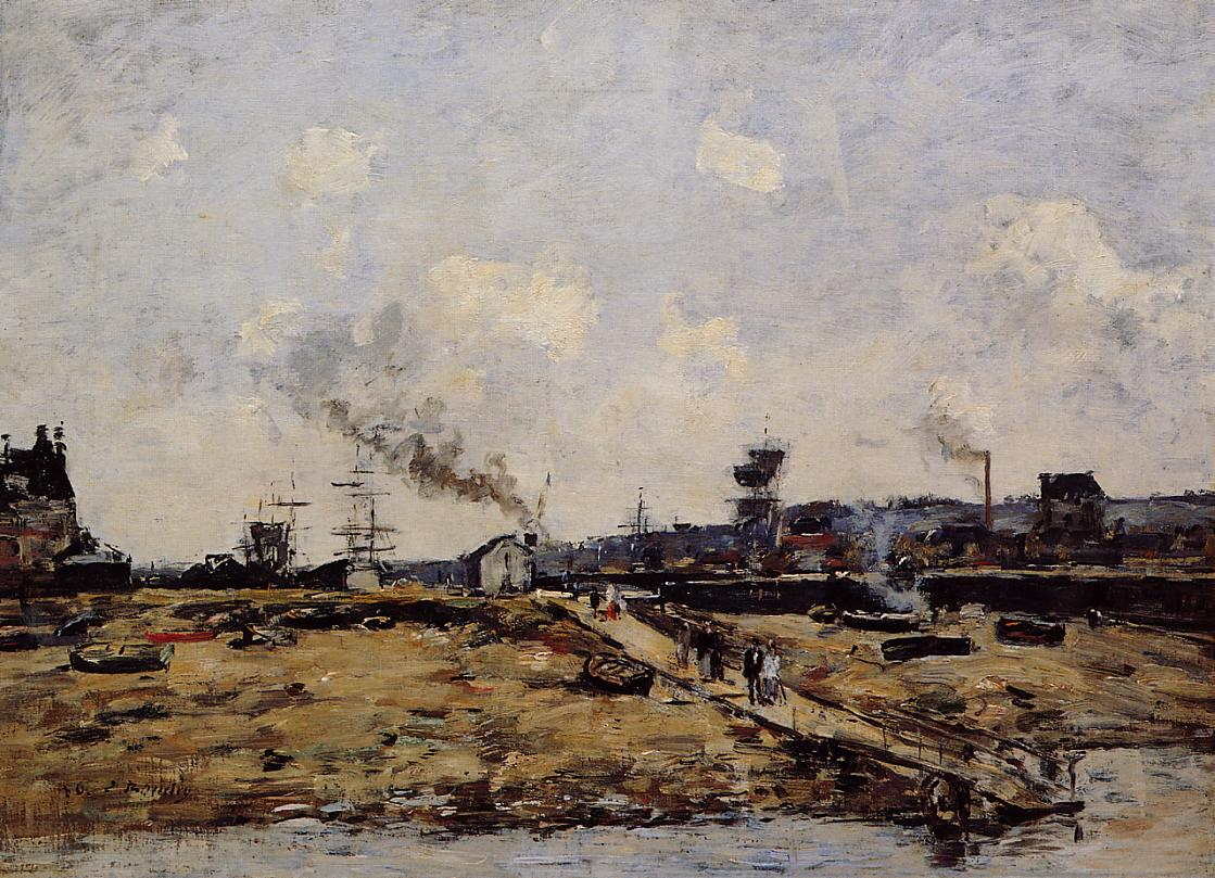 Trouville the Ferry to Deauville1 1880 | Eugene Louis Boudin | Oil Painting