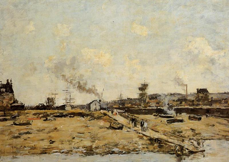 Trouville the Ferry to Deauville2 1880 | Eugene Louis Boudin | Oil Painting