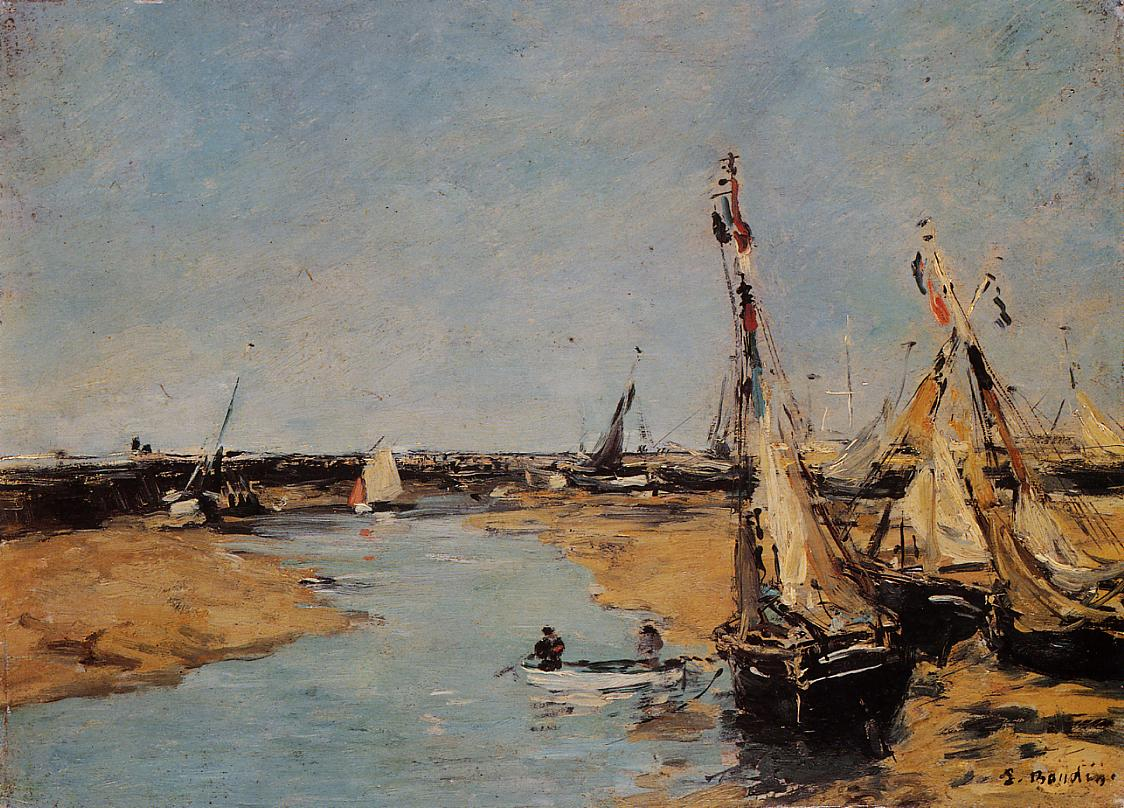 Trouville the Jettys at Low Tide1 1883-1887 | Eugene Louis Boudin | Oil Painting
