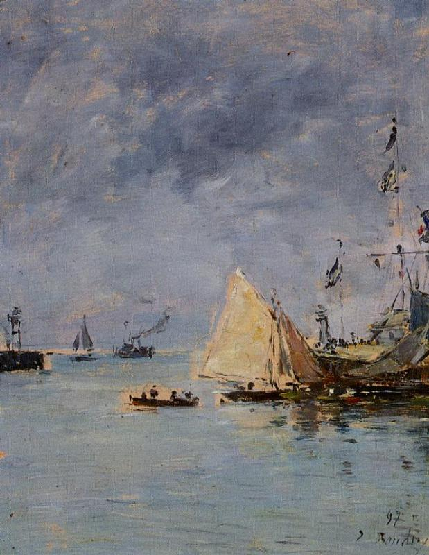 Trouville the Jettys High Tide 1897 | Eugene Louis Boudin | Oil Painting