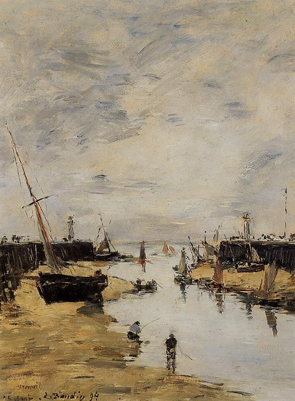 Trouville the Jettys Low Tide1 1894 | Eugene Louis Boudin | Oil Painting