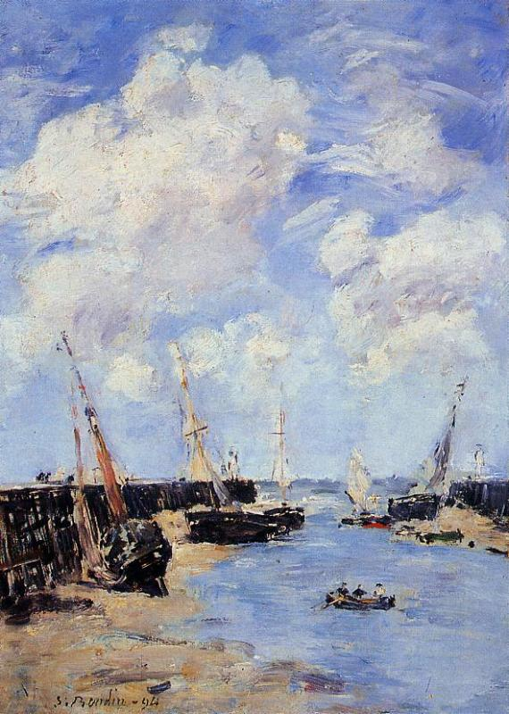 Trouville the Jettys Low Tide2 1894 | Eugene Louis Boudin | Oil Painting