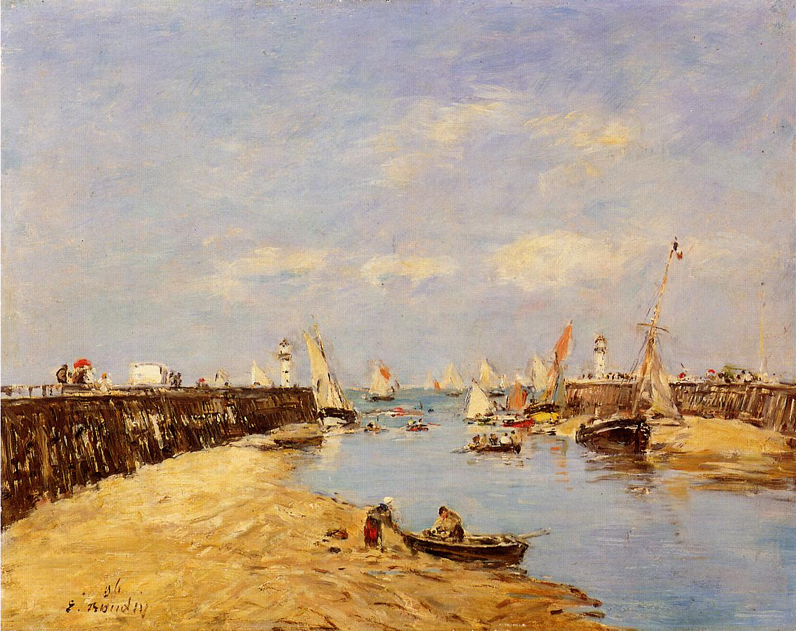 Trouville the Jettys Low Tide2 1896 | Eugene Louis Boudin | Oil Painting