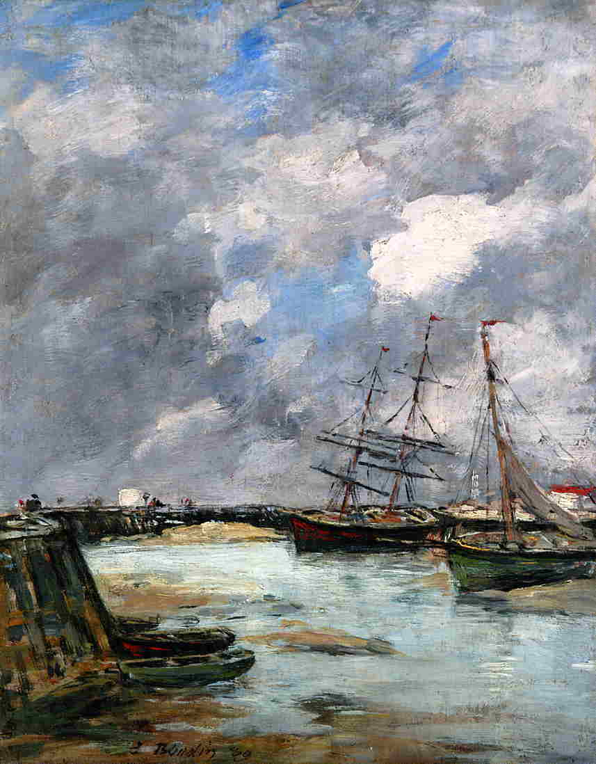 Trouville the Jettys Low Tide 1889 | Eugene Louis Boudin | Oil Painting