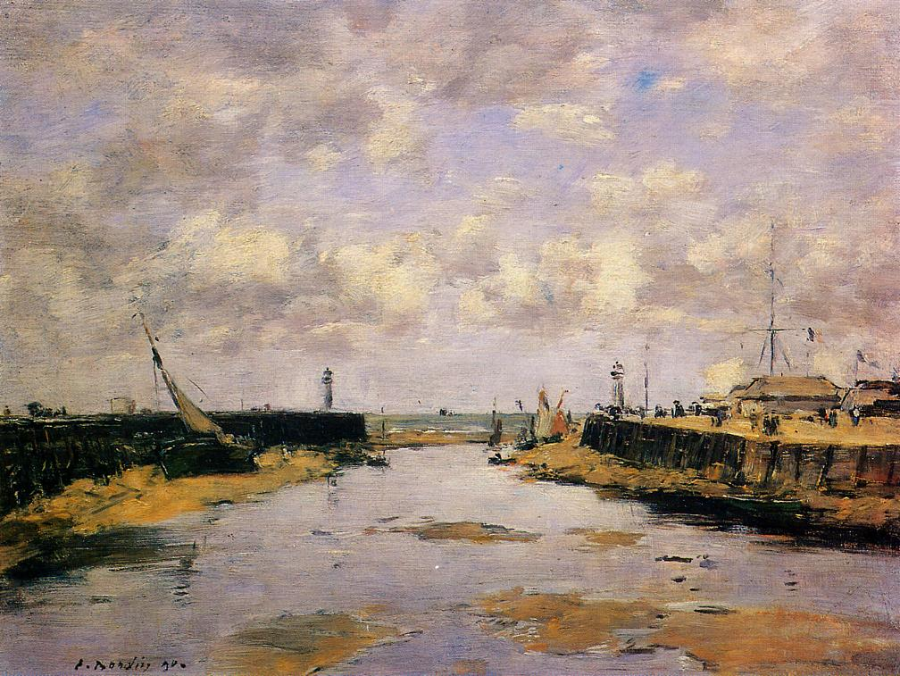 Trouville the Jettys Low Tide 1890 | Eugene Louis Boudin | Oil Painting