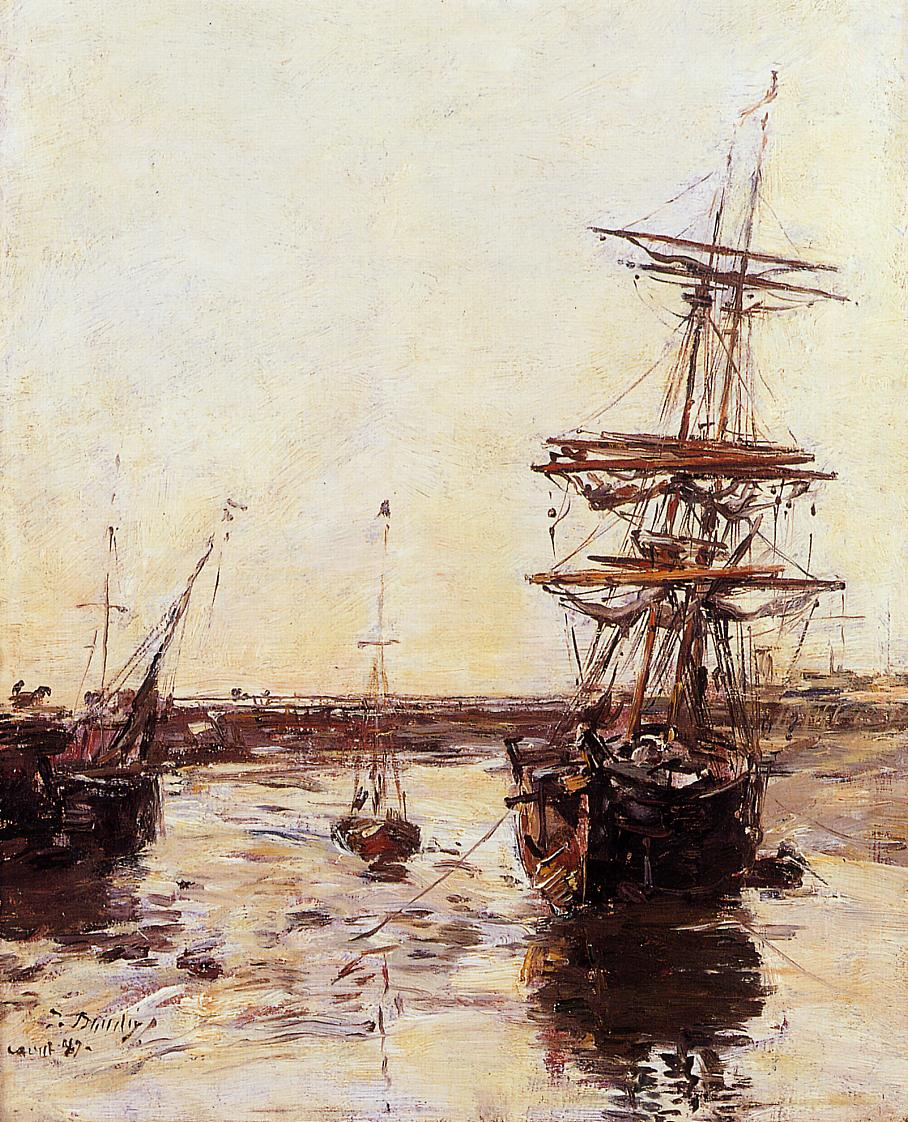 Trouville the Outer Harbor 1887 | Eugene Louis Boudin | Oil Painting