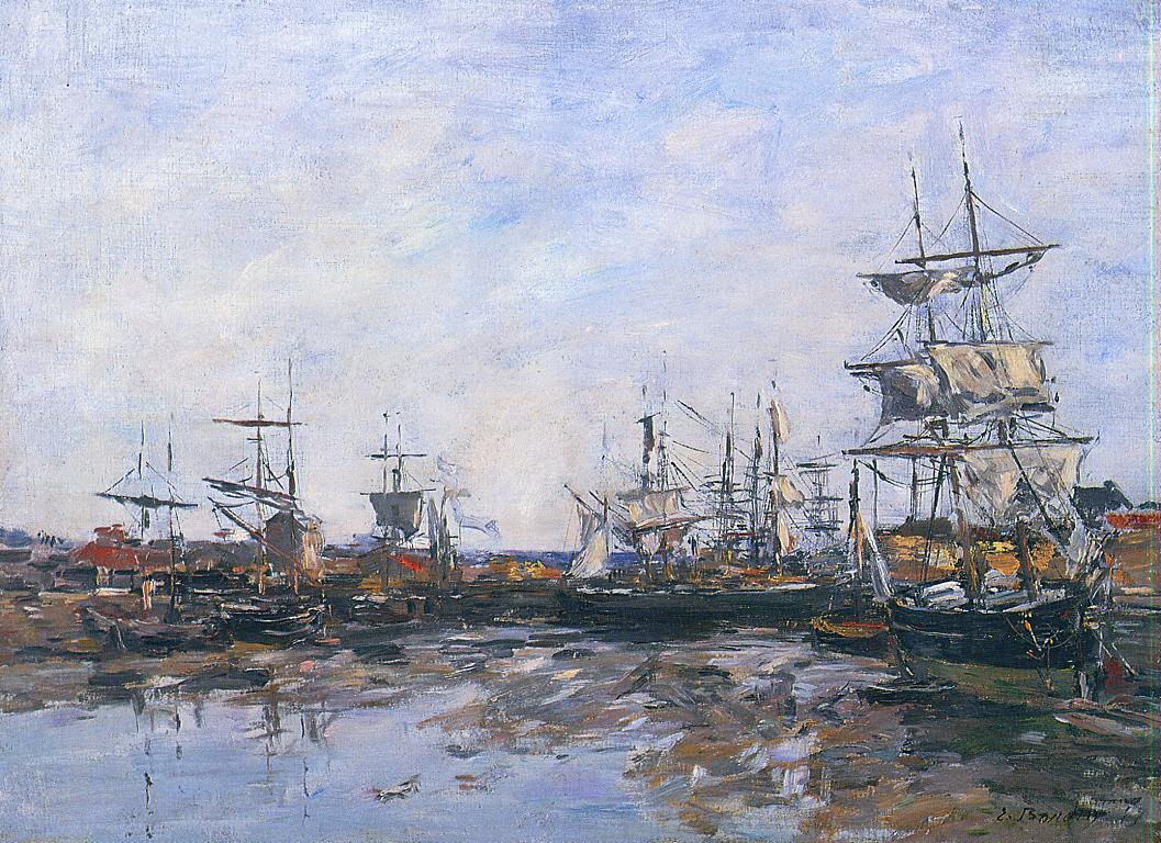Trouville the Port at Low Tide 1887 | Eugene Louis Boudin | Oil Painting