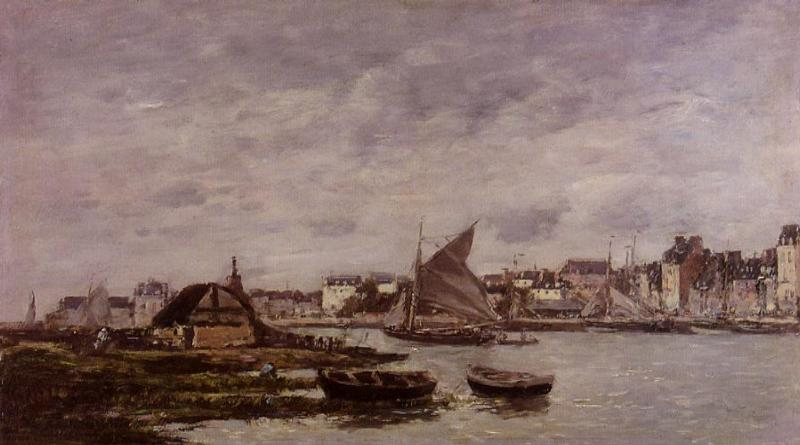 Trouville the Port 1869 | Eugene Louis Boudin | Oil Painting