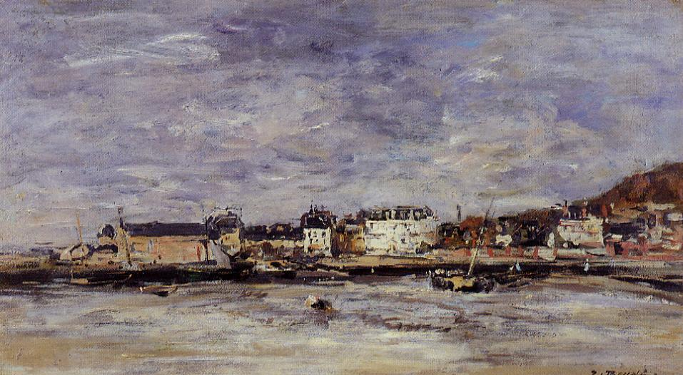 Trouville the Port 1880-1885 | Eugene Louis Boudin | Oil Painting
