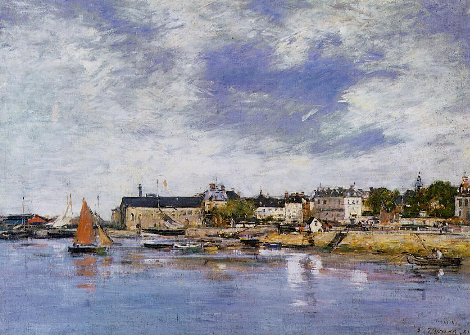 Trouville the Port 1881 | Eugene Louis Boudin | Oil Painting