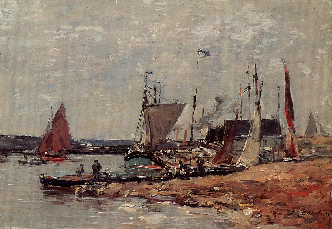 Trouville the Port 1883-1887 | Eugene Louis Boudin | Oil Painting
