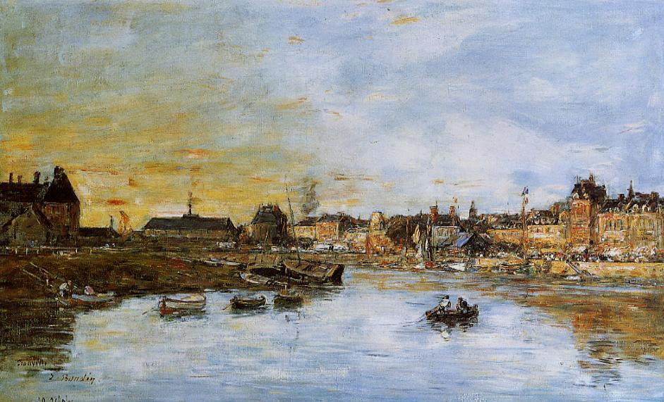 Trouville the Port 1888-1895 | Eugene Louis Boudin | Oil Painting
