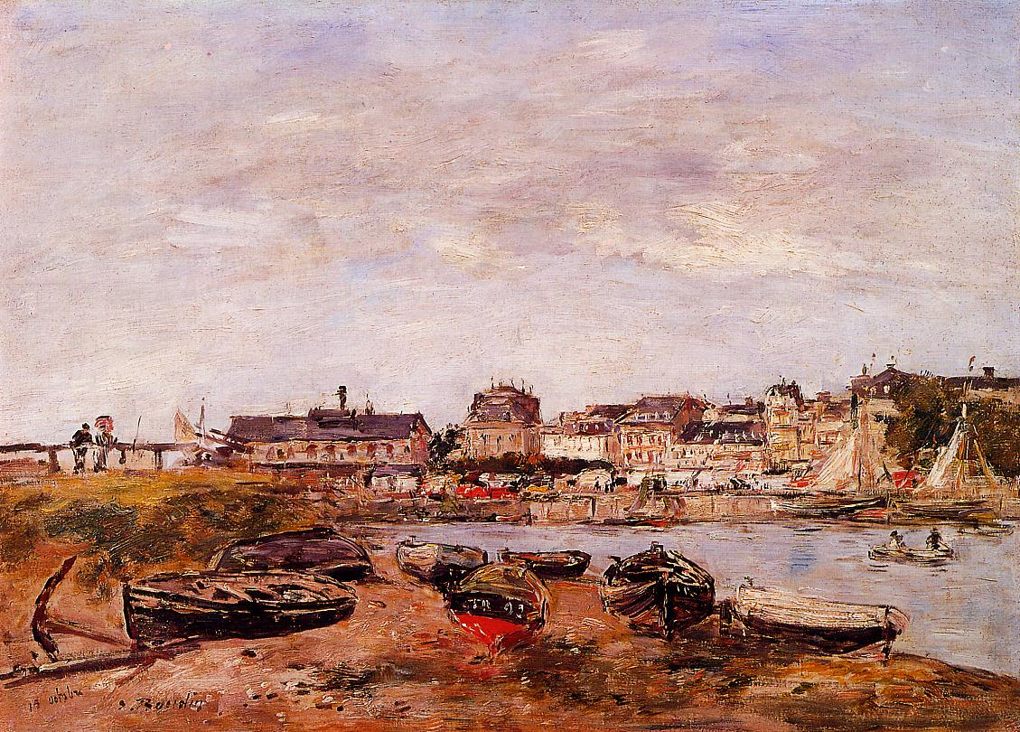 Trouville the View from Deauville on Market Day 1890 | Eugene Louis Boudin | Oil Painting