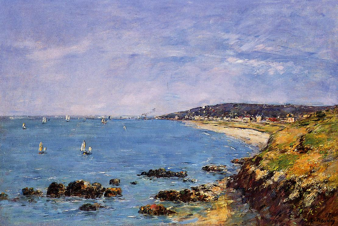 Trouville View from the Heights 1897 | Eugene Louis Boudin | Oil Painting