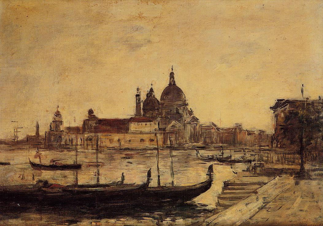 Venice Le Mole et la Salute 1895 | Eugene Louis Boudin | Oil Painting