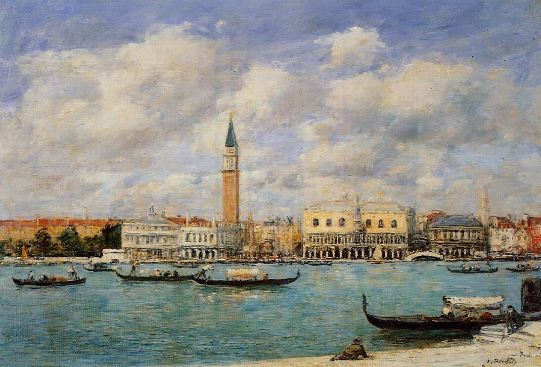 Venice the Campanile View of Canal San Marco from San Giorgio 1895 | Eugene Louis Boudin | Oil Painting