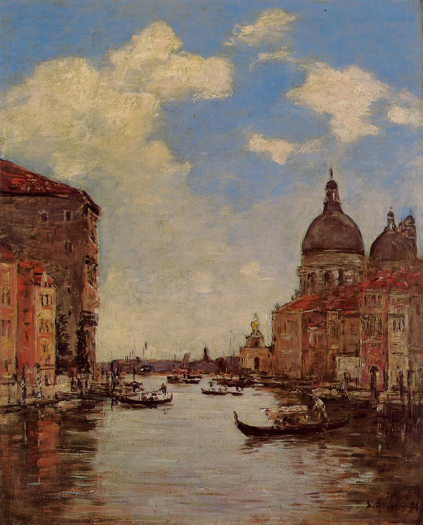 Venice the Canal de la Gandara 1895 | Eugene Louis Boudin | Oil Painting