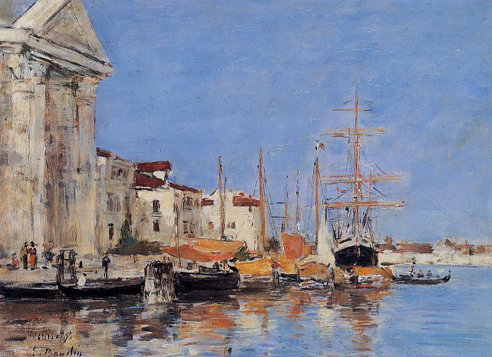 Venice the Customs House 1895 | Eugene Louis Boudin | Oil Painting