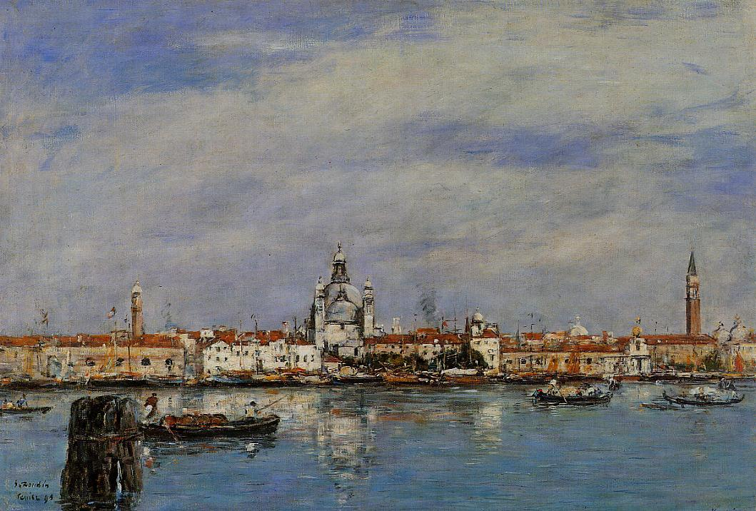 Venice the Grand Canal 1895 | Eugene Louis Boudin | Oil Painting