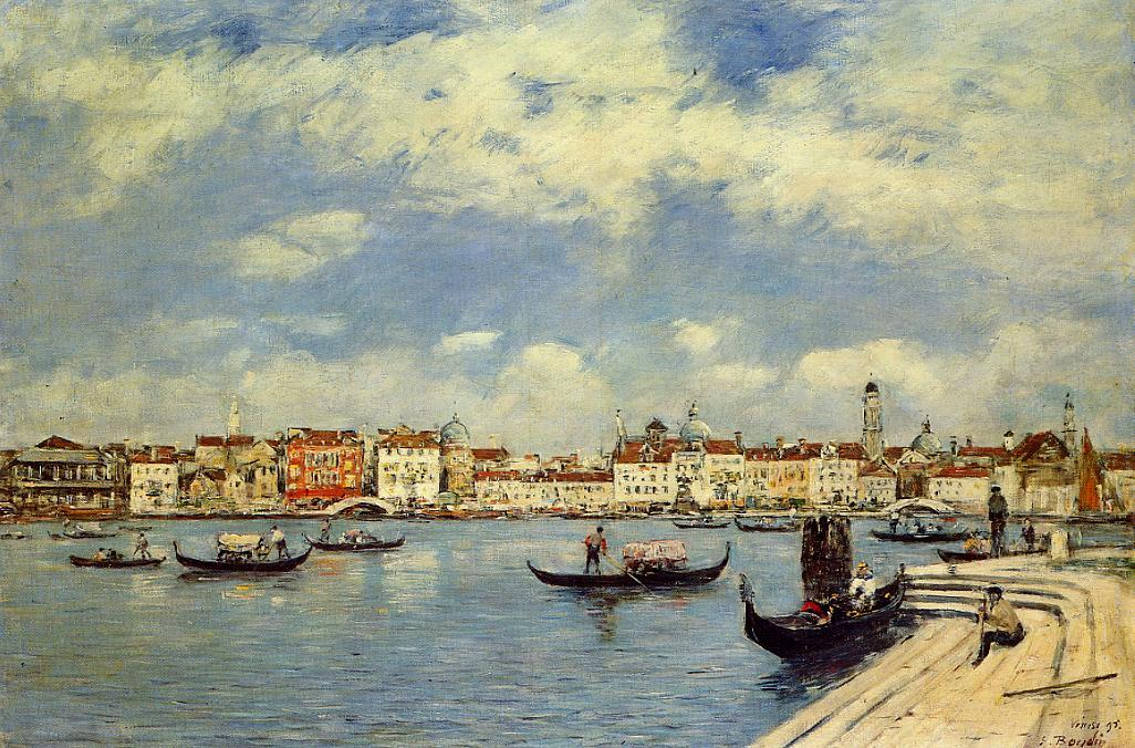 Venice View from San Giorgio 1895 | Eugene Louis Boudin | Oil Painting