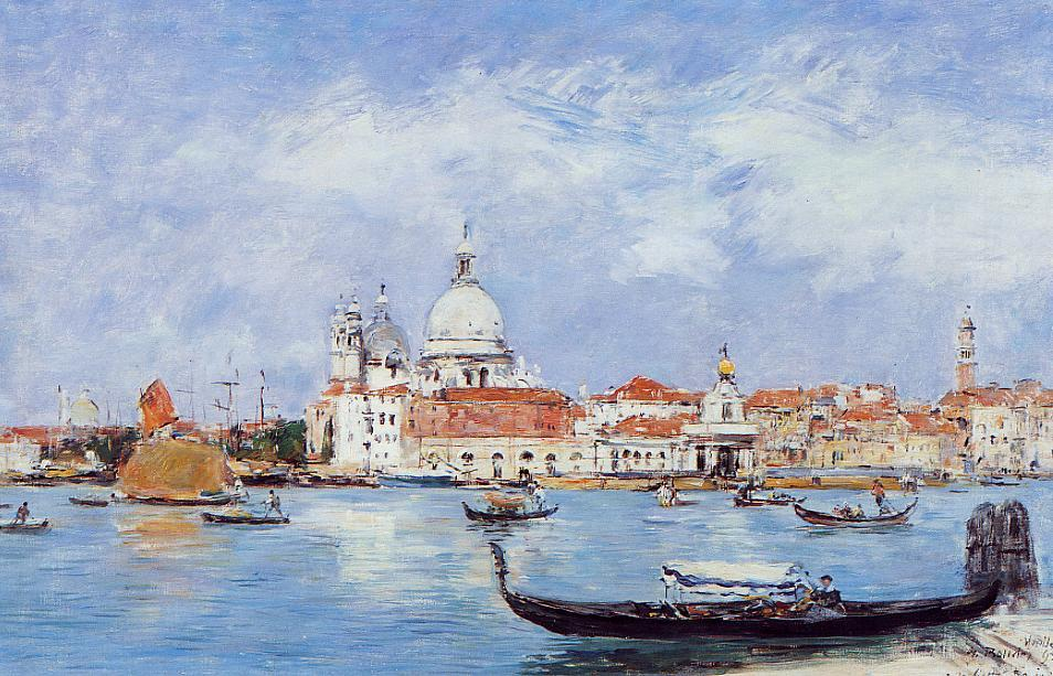 Venice View from the Grand Canal 1895 | Eugene Louis Boudin | Oil Painting