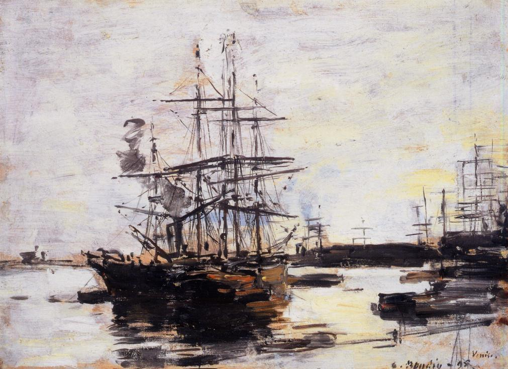 Vessel at Anchor outside of Venice 1895 | Eugene Louis Boudin | Oil Painting