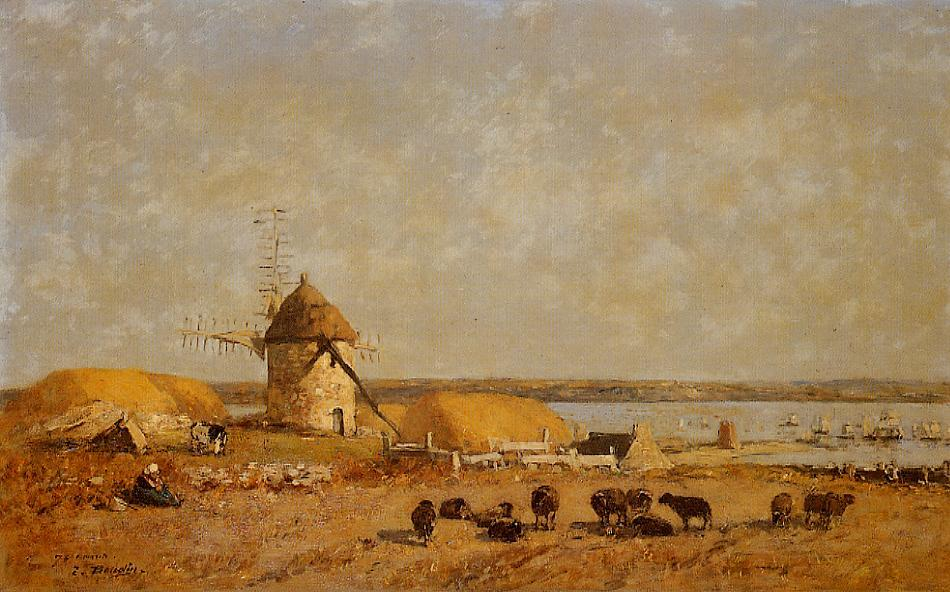 View from the Camaret Heights 1873 | Eugene Louis Boudin | Oil Painting