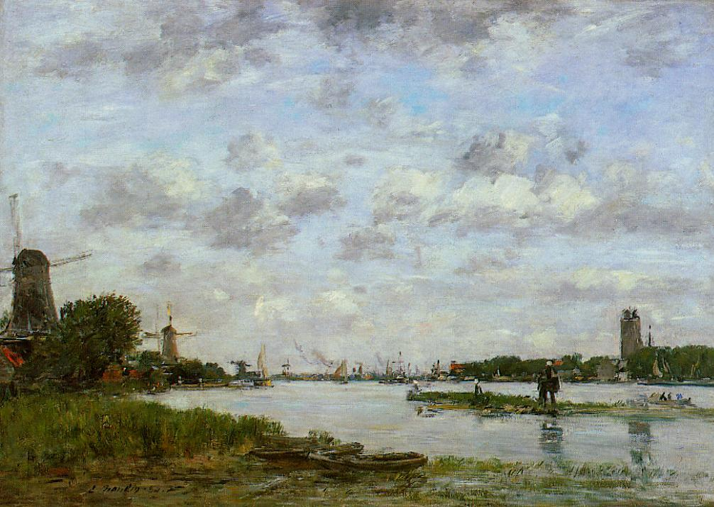 View of Dordrecht 1884 | Eugene Louis Boudin | Oil Painting